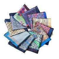 Vintage Style Hommes 100% Silk Paisley Floral imprimé Hanky Handkerchief poche de poche