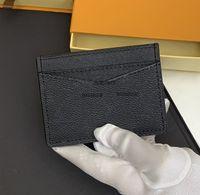 Designer Card Holder Men Womens Cards Holders Black Lambskin Mini Wallets Coin purse pocket Interior Slot Pockets Genuine Leather small bag