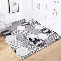 Nordische Bodenmatten Teppichhaut Haushalt Einfache große frei geschnittene Türmatte Teppich Benutzerdefinierte Front Outdoor-Eingang rutschfeste Fußtürmatten