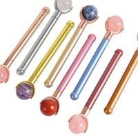 Artes y manualidades Masajeador de rodillos Lollipop Massor Stick Ball redondo Instrumento de belleza Cara completa Multicolor Su Mantente Mantenga joven Multi Funcional Uso 25 70wa