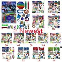Fidget Push Toys Sensory Jewelry Key Ketten drücken Seine Blase Cartoon Einfache Grübchen Spielzeug Keychain Carabiner Stress Reliever 2021 Neues DHL-Schiff FY2762