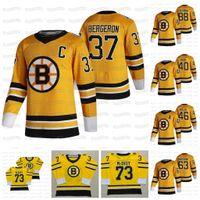 37 Patrice Bergeron C Patch Boston Bruins جيرسي 2021 عكس ريترو تايلور هول نيك فوليناو ديفيد باسترنك كويل كيز مارشاند Rask