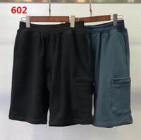 # 602 hombres de verano pantalones cortos joggers pantalones masculinos pantalones para hombre sólido negro algodón azul m-2xl