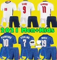 Erkekler Çocuk Kitleri 2021 England Kane Sterling Sancho Futbol Formaları 20 21 Rashford Del Camisetas De Fútbol Futbol Gömlek Seti Üniforma