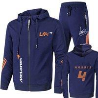 Summer Formula One Race Cavaliers Lando Norris F1 McLaren Team Team Fermeture à glissière Sweats à capuche Sweats à capuche pour hommes Vêtements + Pantalons Sweathirt