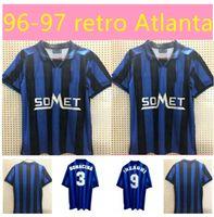 Retro Atalanta 1991 # 1996 # 1997Classic futebol jerseys inzaghi lentini clássico futbol futebol camiseta camiseta kit maillot maglia