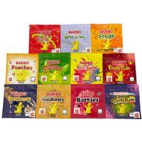 Medibles Baribo Bären Edibles Mylar Taschen 3 Seitendichtung Kunststoffverpackung 11 Aromen Gold Fizzy Cola Caribo Happy Beeren Frösche Dinosaurier