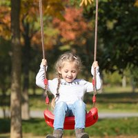 Camp Furniture Kids Plastic Toy Swing Chair Outdoor Garden Hanging Type Portable Hammock Rainbow Curved Board Swings Seat Flying