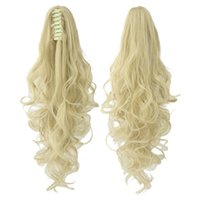 """005 Synthetic Ponytail Long Straight Hair 16"""" 22"""" Clip Ponytail Hair Extension Blonde Brown Ombre Hair Tail With Drawstring"""