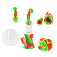 DHL Freight Free Smoking Pipe Glass smoking Mixed Color High Capacity water Smoking bongs concentrate oil dab rig dry herb dabbing tool popular Eco friendly