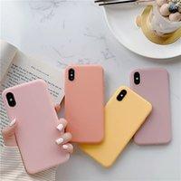 Ultradünnes stilvolle farbige Candy Case für iPhone 12 Pro XR xs max 7 8 plus nette bunte matte Silikon-weiche TPU-Abdeckung