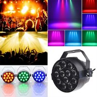 Par Lights 12Beads 18W RGB Stage Lighting AC90~240V 3 in 1 Lead LED Light with DMX512 for Disco DJ Projector Machine Party Decoration Easy to Use Indoor Lamp CE ROHS