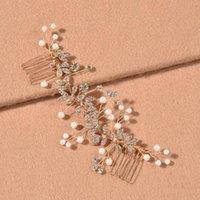 Hair Clips & Barrettes Flower Long Insert Comb Rhinestone Inlaid Vintage Elegant Handmade For Women Wedding Party Accessories BH
