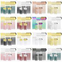Посуда из нержавеющей стали Кухня Hotels Hotel Creative Нож Ложка Форк Ужин Ужин набор Столовые приборы Комплект Столовые посуды Набор 24 шт.