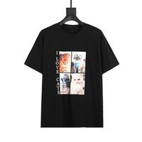Летние женские футболки Симпатичные Кошка Печать Мода Женская Короткая Рукав 3 Цвета Высокое Качество Мужчины Женщины Футболка Поло Размер XS-L