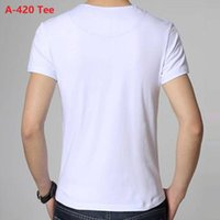 A-420 cotton tshirt t-shirt white color in stock Mens Outdoor T Shirt Men Breathable Tactical Tshirt Quick