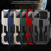 Caixa de telefone de kickstand à prova de choque da armadura para iphone 12 pro máximo 11 12mini xr xs max x 7 8 mais 11Pro militar anti-outono capa