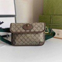 Designer Luxo Neo Vintage 493930 Unisex Leather Bag Fanny Pack Bege Cintura Bolsa Brown PVC Saco Tamanho: 24.5x17.5x3.5cm Novo