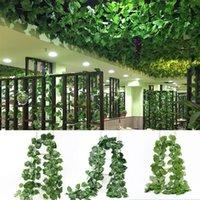 Декоративные цветы венки искусственные лозы растений, шелковый виноградный лист гирлянды, имитация ротанга цветок, домашнее украшение свадьбы