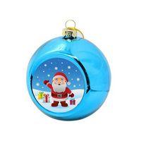 8cm Balls de sublimación Decoraciones de la bola de Navidad para la transferencia de tinta Impresión de la impresión Presión de calor DIY Regalos Artesan el ornamento del árbol de Navidad C852