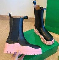 2021 Designer - moda inverno couro genuíno martin botas média e alta qualidade elástica 5 cores