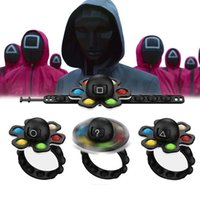 Squid Game Fidget Spinners Sensory Bubble Bracelet Cellphone Straps Simple Dimple Pops Octopus Finger Gyro Decompression Push Gyroscope Wrist Band Adult Kids Toy