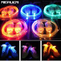 Strips Fashionable LED Shoelaces Luminous Flashing Shoe Laces Disco Party Light Up Glow Plastic Strap