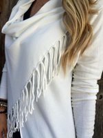 Pulls pour femmes 2021 Femmes Capes et Ponchoes Automne Hiver Femmes Femmes Couleurs Couleurs Couleurs Tassel Pulls Pull Pull Plus Taille