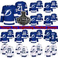 Tampa Bay Lightning Jersey 86 Nikita Kucherov 77 Victor Hedman 91 Stamkos 21 Brayden Point 71 Anthony Cirelli الهوكي الفانيلة