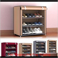 Multi Tiers Dust Proof Portable Steel Stackable Storage Non-Woven Fabric Shoe Stands Organizer Closet Home Holder Shelf Cabinet 201030 Nrzdk