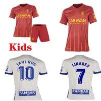 2021 Real Suarez Zaragoza Soccer Jersey 20 21 Javi Ros Kagawa Linares Футбол CamiSeta De Futbol Guti Men + Kids Kits