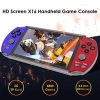 اللاعبون لعبة المحمولة X16 6.5 بوصة المحمولة جيب وحدة التحكم 8GB الرجعية فيديو gamepad مع 6800 مدمج