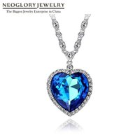 Neoglory Blue Heart of the Ocean Necklace The Titanic Love For Valentine Gifts Embellished with Crystals from Swarovski