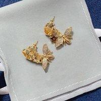 Mode Ohrstecker für Frauen Bienensterne Luxus Designer Schmuck Gold Brief Ohrring Für Party Hochzeit Liebhaber Geschenk mit Kasten