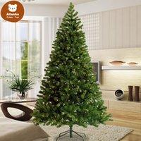 US Stock 2020 Fashion Pre-Lit Christmas Tree 7.5ft Artificial Hinged Xmas Tree med 400 Pre-Strung LED-lampor Fällbara stativ 591XR