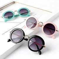 Bambini Sunblock Vintage Round Sunglasses Bambini Bambini Ragazzi Ragazze Protezione Occhiali da sole per bambini Eyewear Accessori per esterni UV4001