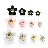 Interior Decorations 4 Pcs Car Outlet Vent Perfume Clip Small Daisy Air Conditioning Decoration Supplies Freshener