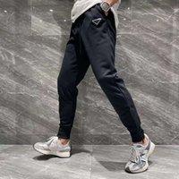 21SSS Francia Mens Designer Pantalones Moda Italia Pantalón Letra Triángulo Hombres Mujeres Casual Algodón Pantalones de Béisbol Negro 07