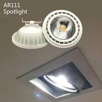 Mode AR111 LED Spotlight Lumière Ampoule 12W 20W 25W G53 GU10 Lampe Dimmable COB ES111 AC110V 220V Blanc chaud chaud blanc