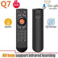 2021 Q7 Backlit Gyroskop Wireless Air Maus Smart Voice Fernbedienung Full Keys IR Lernen für Android TV Box VS G21 Pro G30s