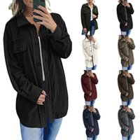 Women's Jackets Female Coat Solid Color Turn-Down Collar Long Sleeve Jacket Single-Breasted Blouse For Women S M L XL XXL