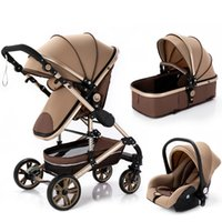 Designer  stroller Baby Multi-functional High landscape Can Sit Reclining Light Folding s Two-way Eggshell Design