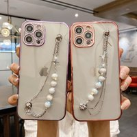 Luxury Fashion Plating 3D Diamond Bling Bracelet Chain Phone Cases For iPhone 12 Pro Max X Xr Xs 11 Case Cell Back Cover