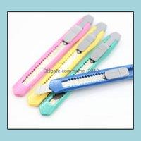 Suministros de corte Business Industrial2021 Mini Utilidad Oficina Escuela Colegio de papel Cortadores de papel Candy Colors MTFunction Package Express Cuchillo D