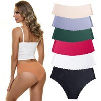 Women's Panties 2pcs lot Sexy For Women Solid Underwear Ruffle Seamless Lingerie Briefs Underpants Female Clothes Intimates