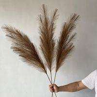 122 cm brudrush künstliche pampas gras phragmiten pflanzen hochzeit blume bündel dekoration diy home decor gefälschte blumen roeds gras