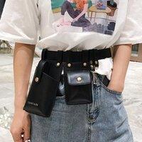Sacos de cinto de couro para mulheres moda do ombro messenger bag bag fanny packs fanny packs saco de cintura chave de telefone celular