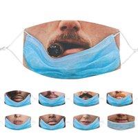 2021 Erkekler Kadınlar Için Komik Yüz Maskesi Mavi Pamuk Maskeleri Yetişkin Toz Geçirmez Prank Baskılı Ağız FacMask Fabrika Doğrudan Satış