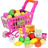Simulation shopping cart Play Toy Kids Children Pretend Furniture Toys Plastic Baby Indoor Game Playing House