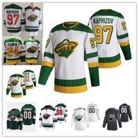 Minnesota Wild Kirill Kaprizov 2021 Retro Retro Hockey Jersey Matt Dumba Marco Rossi Zach Parise Devan Dubnyk Ryan Suter Fiala Jerseys